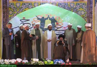 تصاویر/ آیین عمامه گذاری ۲۰ نفر از طلاب مدارس علمیه خوزستان