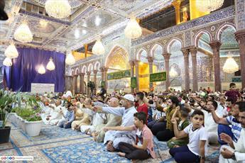 مراسم جشن عید غدیر با حضور زائرین  در حرم امام حسین (ع) برگزار شد+ تصاویر