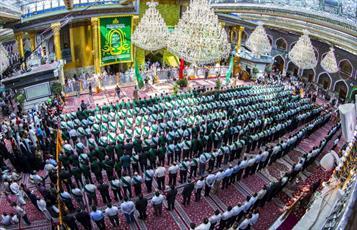 در سالروز عید غدیر حرم حضرت عباس (ع) غرق در شادی و سرور شد+تصاویر