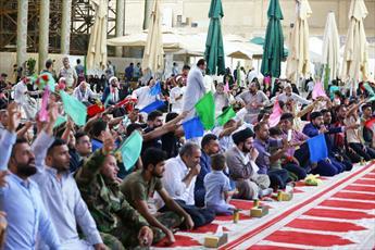 جشن عید ولایت حضرت امیر المؤمنین (ع) در حرم امامین عسکریین(ع) برگزار شد+تصاویر