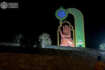"""نصب یادبود """"غدیر"""" در بالاترین نقطه شهر نجف اشرف+ تصاویر"""