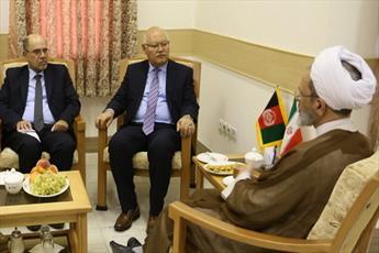 وزیر تحصیلات عالی افغانستان با آیت الله اعرافی دیدار و گفتگو کرد