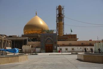 سنگ فرش حرم امامین عسکریین(ع) در حال تکمیل است+ تصاویر