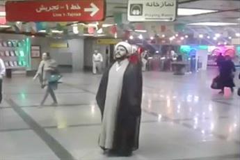 فیلم/ اذان گفتن روحانیون در اماکن و معابر عمومی 