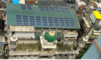 پنجمین مسجد شهر بمبئی نیز سیستم انرژی خورشیدی نصب کرد