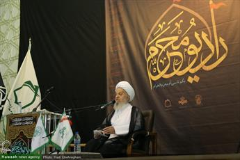 تصاویر/ آیین افتتاح رادیو محرم با حضور آیت الله العظمی مکارم شیرازی