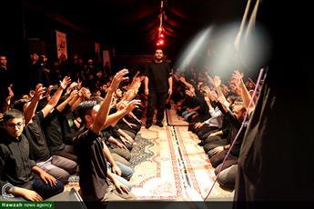 تصاویر/ عزاداری طلاب اهوازی در خیمه روضه الزهراء
