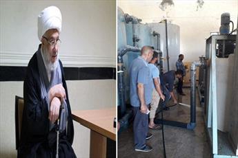 آستان مقدس حسینی ایستگاه آب آشامیدنی بصره را به راه انداخت+ تصاویر