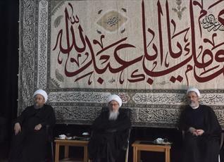 تصاویر/ مراسم عزاداری امام حسین(ع) در بیوت مراجع