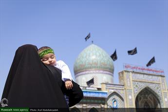 تصاویر/ اجتماع شیرخوارگان حسینی در حرم سید جلال الدین اشرف آستانه اشرفیه