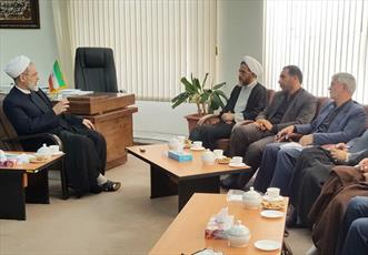 دیدار رئیس کمیسیون  فرهنگی مجلس شورای اسلامی با آیت الله اعرافی
