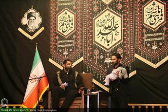 تصاویر/ مراسم عزاداری شب هفتم محرم در حرم حضرت معصومه(ع)