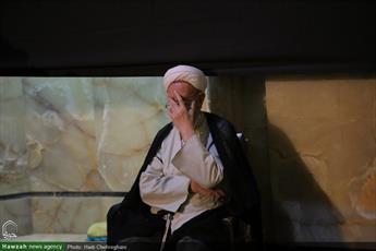 تصاویر/ مراسم سوگواری شب هفتم محرم در مسجد اعظم قم