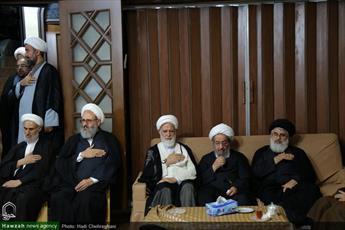 تصاویر/ مراسم عزاداری سالار شهیدان در منزل آیت الله محسن فقیهی