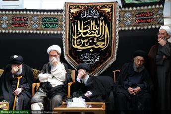 تصاویر/ مراسم عزاداری امام حسین (ع) در بیت آیت الله العظمی شبیری زنجانی