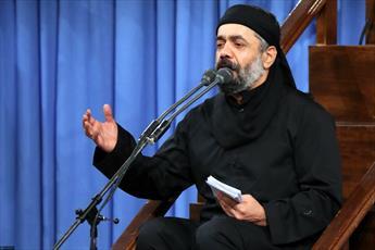فیلم/ مداحی حاج محمود کریمی در حضور رهبر انقلاب