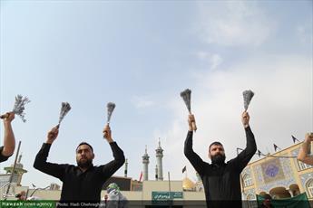 تصاویر/ عزاداری تاسوعای حسینی در حرم کریمه اهل بیت (ع)
