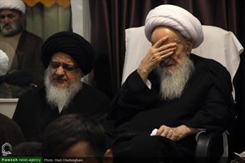 تصاویر/ مراسم سوگواری تاسوعای حسینی در بیوت مراجع و علما-۱