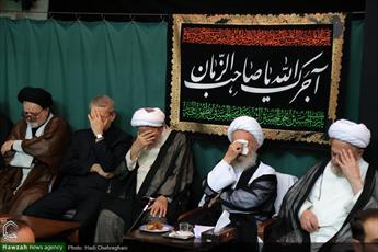تصاویر/ مراسم سوگواری تاسوعای حسینی در بیوت مراجع و علما-۲