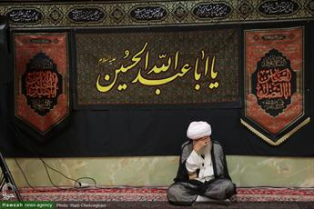 تصاویر/ مراسم عزاداری سالار شهیدان در مدرسه علمیه آیت الله العظمی خوانساری
