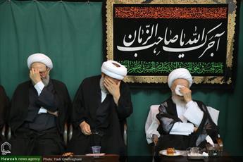 تصاویر/ مراسم عزاداری شهادت امام حسین(ع) در بیوت مراجع و علما-۲