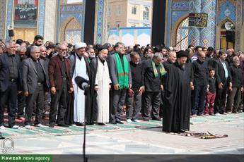 تصاویر/ حال و هوای آستان مقدس محمد هلال بن علی (ع) آران و بیدگل در عاشورای حسینی
