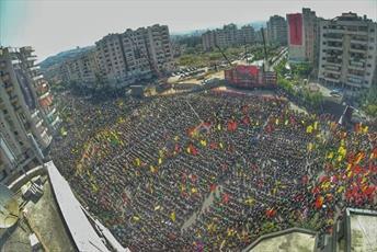مراسم عاشورای حسینی در مناطق مختلف لبنان برگزار شد+ تصاویر