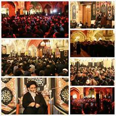 مراسم عزاداری حسینی در حرم حضرت زینب(س) برگزار شد + تصاویر