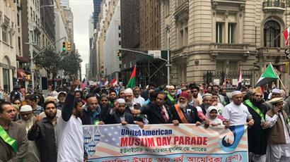 رژه «روز مسلمان» در شهر نیویورک برگزار شد