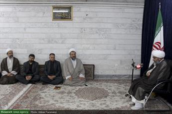 تصاویر/ دیدار اعضای قرارگاه اربعین با آیت الله سیفی مازندرانی