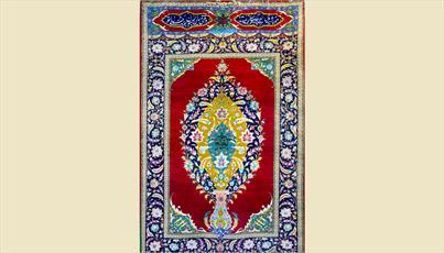 موزه امام حسین(ع) از قالیچه نادر ایرانی که در قتلگاه قرارداشت رونمایی کرد+عکس