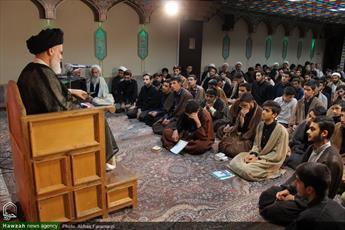 تصاویر/ گردهمایی طلاب و  روحانیون محمودآبادی مقیم قم