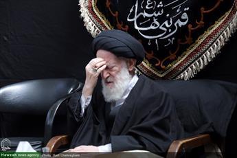 تصاویر/ مراسم عزاداری شهادت  امام سجاد (ع) در بیوت مراجع و علما