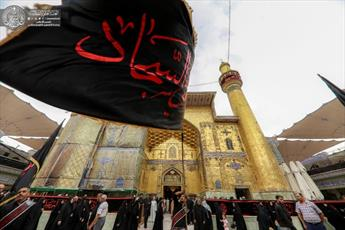مراسم عزاداری شهادت امام سجاد (ع) در حرم امیرالمؤمنین+تصاویر