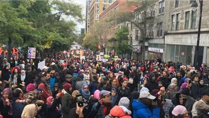 هزاران مسلمان در تظاهرات «ضدنژادپرستی» در مونترال شرکت کردند + تصاویر