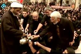 فیلم/ هیئتی که روحانیون از عزاداران پذیرایی میکنند