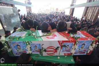 تصاویر/ تشییع شهید مدافع وطن شهید علی غلامی در شهر قاین و روستای ورزگ
