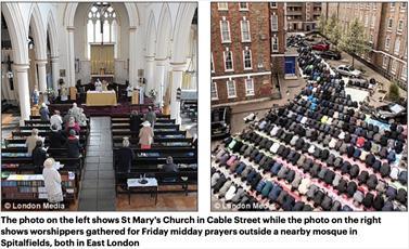 گزارش پایگاه فرانسوی از رشد چشمگیر اسلام در انگلستان