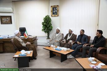 تصاویر/ دیدار اعضای هیئت رئیسه ستاد اربعین قم با آیت الله اعرافی