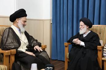 دیدار دبیر شورای عالی حوزه با آیت الله العظمی شبیری زنجانی+ عکس