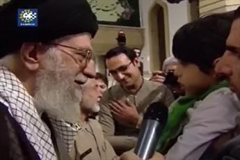 فیلم/ شعر كودكانه  فرزند یک جانباز درباره حادثه كربلا در حضور رهبر انقلاب