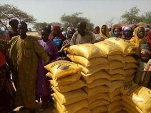 شیعیان نیجر  بسته های غذایی میان نیازمندان توزیع می کنند