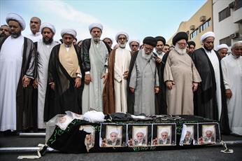 تصاویر/ تشییع پیکر حجت الاسلام و المسلمین ستری از علمای بحرین
