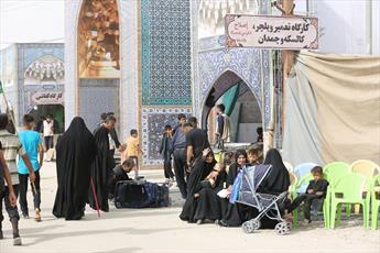 موکب آستان حضرت معصومه(س) در عمود ۱۰۸۰ آغاز بهکار کرد+تصاویر