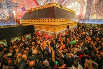 حضور میلیونی زائران اربعین در حرم حضرت امیرالمؤمنین(ع) + تصاویر