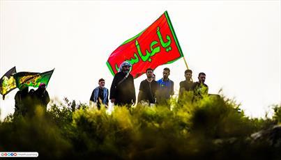 تصاویر/ شکوه پرچم های حسینی در دست زائران اربعین