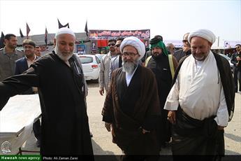 حجت الاسلام و المسلمین حیدری از پایانه مرزی چذابه بازدید کرد