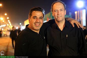 تصویری از علی سلیمانی در پیاده روی اربعین/ افتخار می کنم دلداده حسینم