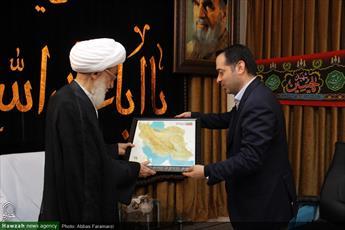 تصاویر/ دیدار رئیس سازمان نقشه برداری کشور با مراجع و علما