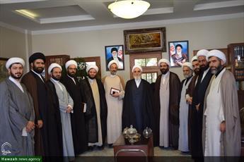 تصاویر/ حضور مدیر و معاونین حوزه تهران در مدرسه علمیه امام حسن مجتبی(ع) لواسان
